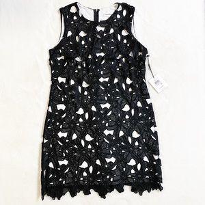 Calvin Klein Black/White Lace Cocktail Dress, SZ6
